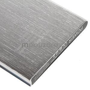 Luxusní kovová externí nabíječka power bank 12 000 mAh - stříbrná - 5