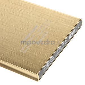 Luxusní kovová externí nabíječka power bank 12 000 mAh - zlatá - 5