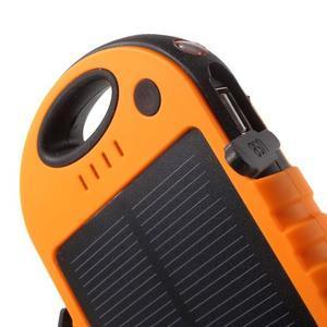 Outdoor GX vysokokapacitní externí solární nabíječka 12 000 mAh - oranžová - 5