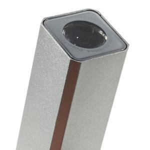 GTX kovová externí nabíječka 2 600 mAh - stříbrná - 5