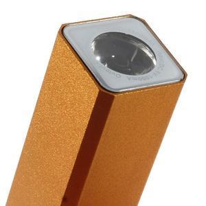 GTX kovová externí nabíječka 2 600 mAh - oranžová - 5