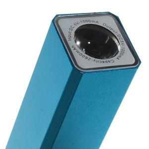 GTX kovová externí nabíječka 2 600 mAh - modrá - 5