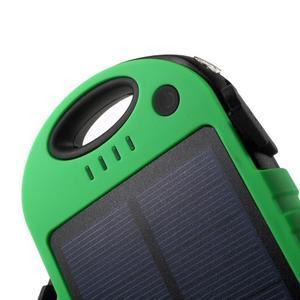Outdoor GX vysokokapacitní externí solární nabíječka 12 000 mAh - zelená/černá - 5