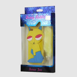 Gelové 3D pouzdro na iPhone 5, 5s- kočka žlutá - 5