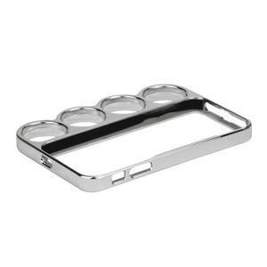 Ocelové lehké pouzdro na iPhone 5, 5s- stříbrné - 5