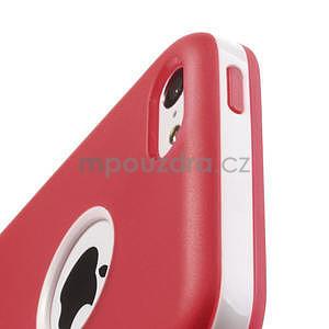 Gelové rámové pouzdro pro iPhone 5C- červené - 5