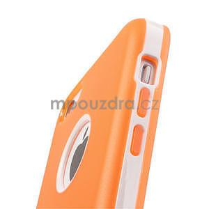 Gelové rámové pouzdro pro iPhone 5C- oranžové - 5