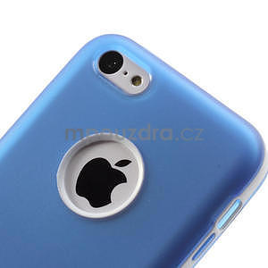 Gelové rámové pouzdro pro iPhone 5C- modré - 5