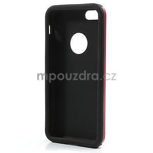Gelové metalické pouzdro pro iPhone 5C- červené - 5