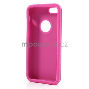 Gelové metalické pouzdro pro iPhone 5C- růžové - 5