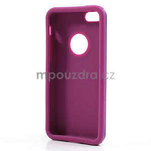 Gelové metalické pouzdro pro iPhone 5C- fialové - 5
