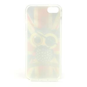 Gelové pouzdro na iPhone 5, 5s- Jack vlajka - 5