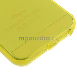 Gel-ultra slim pouzdro pro iPhone 5, 5s- žluté - 5