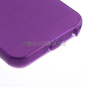 Gel-ultra slim pouzdro pro iPhone 5, 5s-fialové - 5