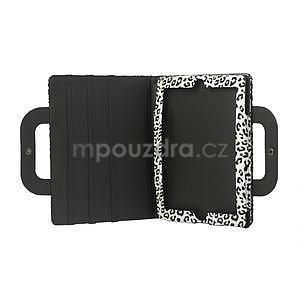 Leopard pouzdro pro iPad 2, 3, 4- bílé - 5