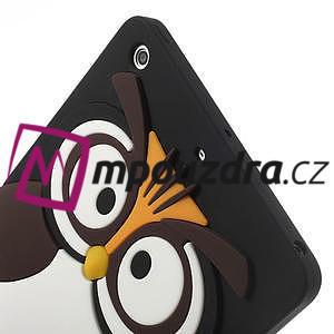 Silikonové pouzdro na iPad mini 2 - hnědá sova - 5