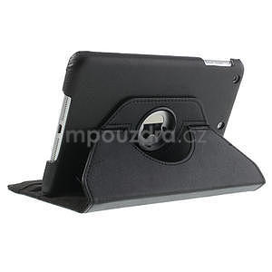 PU kožené 360 °  pouzdro pro iPad mini-černé - 5