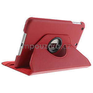 PU kožené 360 °  pouzdro pro iPad mini- červené - 5