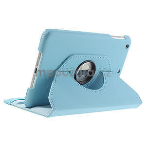 PU kožené 360 °  pouzdro pro iPad mini- modré - 5
