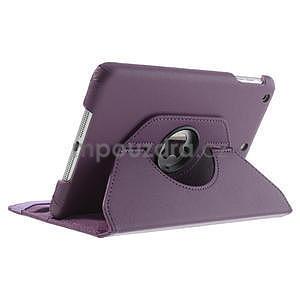 PU kožené 360 °  pouzdro pro iPad mini- fialové - 5