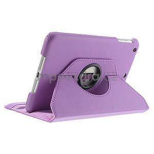 PU kožené 360 °  pouzdro pro iPad mini- světlefialové - 5