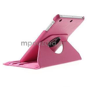 PU kožené 360 °  pouzdro pro iPad mini- růžové - 5