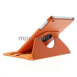 PU kožené 360 °  pouzdro pro iPad mini- oranžové - 5