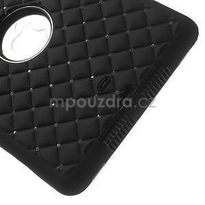 Hybridní kamínkové pouzdro pro iPad mini- černé - 5