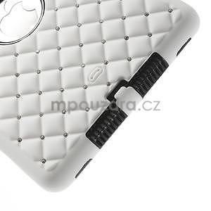 Hybridní kamínkové pouzdro pro iPad mini- bílé - 5