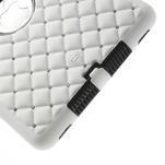 Hybridní kamínkové pouzdro pro iPad mini- bílé - 5/5