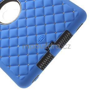 Hybridní kamínkové pouzdro pro iPad mini- modré - 5