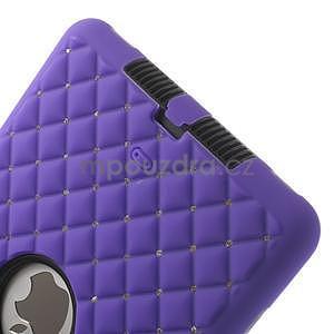Hybridní kamínkové pouzdro pro iPad mini- fialové - 5