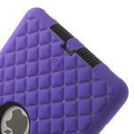 Hybridní kamínkové pouzdro pro iPad mini- fialové - 5/6