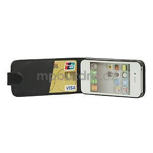 Flipové pouzdro pro iPhone 4, 4s- černé - 5