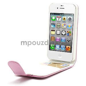 Flipové pouzdro pro iPhone 4, 4s- světlerůžové - 5