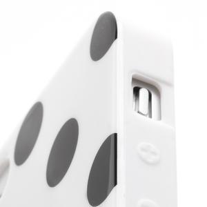 Gelové PUNTÍK pouzdro pro iPhone 5, 5s- bílé - 5