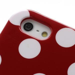 Gelové PUNTÍK pouzdro pro iPhone 5, 5s- červené - 5
