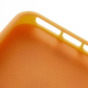 Gelové PUNTÍK pouzdro pro iPhone 5, 5s- oranžové - 5