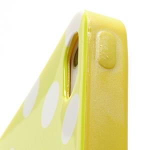 Gelové PUNTÍK pouzdro pro iPhone 5, 5s- žluté - 5