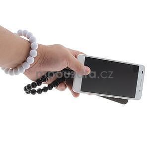 Korálkový náramek micro USB, bílý - 5