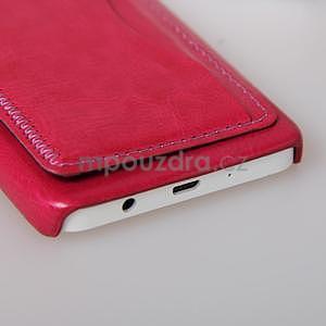PU kožený/plastový kryt se stojánkem na Samsung Galaxy A3 - rose - 5