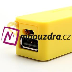 2600mAh externí baterie Power Bank - žlutá - 5