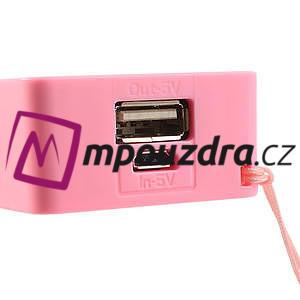 4000mAh externí baterie Power Bank - růžová - 5