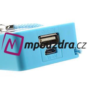 4000mAh externí baterie Power Bank - modrá - 5