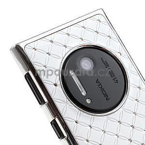 Drahokamové pouzdro pro Nokia Lumia 1020- bílé - 5