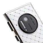Drahokamové pouzdro pro Nokia Lumia 1020- bílé - 5/6