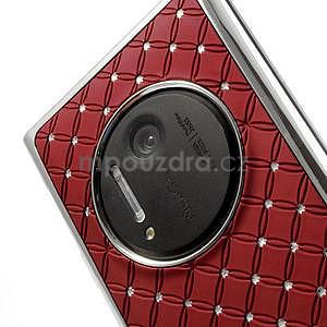 Drahokamové pouzdro pro Nokia Lumia 1020- červené - 5