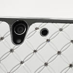 Drahokamové pouzdro na Sony Xperia Z L36i C6603- bílé - 5/7