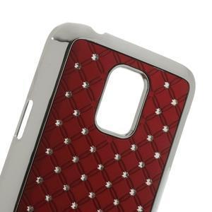 Drahokamové pouzdro na Samsung Galaxy S5 mini G-800- červené - 5