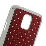 Drahokamové pouzdro na Samsung Galaxy S5 mini G-800- červené - 5/5